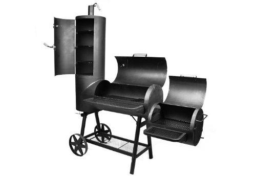 BBQ Grill Smoker + Räucherofen Gartengrill Holzkohle Rost