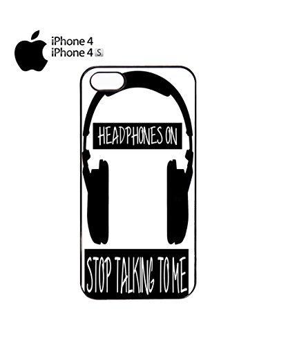 Headphones On Stop Talking To Me Mobile Cell Phone Case Cover iPhone 6 Plus Black Noir