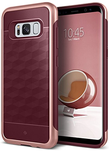Galaxy S8 Plus Case, Caseology [Parallax Series] Geometric Slim Fit Dual Layer Drop Protection [Burgundy] [Modern Grip] for Samsung Galaxy S8+ Plus (2017)