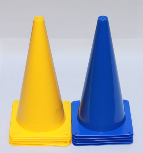 Pferdesport-Pylonen, 38 cm, 10 Stück (5x gelb, 5x blau)