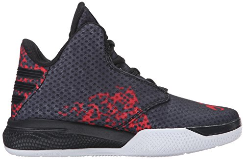 Adidas Light Em Up 2 J Herren Maschenweite BasketballSchuh Black/Light Scarlet/White