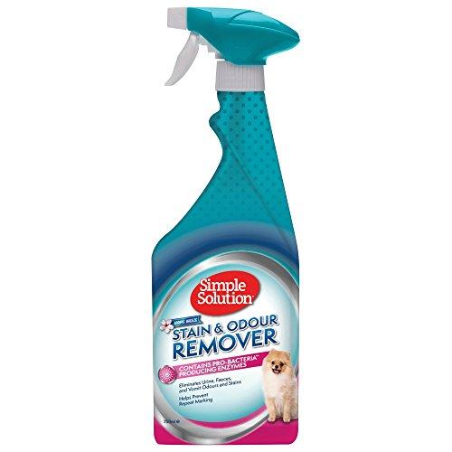 Simple Solution Einfache Lösung Flecken und Geruchsentferner mit Frühlingsbrise Duft, 750 ml - Katzenurin Für Teppich-reiniger