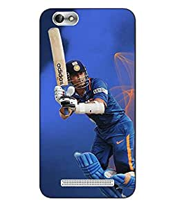 Snazzy Cricket Printed Blue Hard Back Cover For Lenovo Vibe C A2020