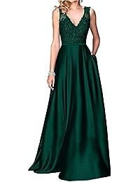 Dresses Onlie Damen Brautjunfer Kleid Kurz Abschlussball Partykleid  Abendkleider V-Ausschnitt… 94bad12d5a