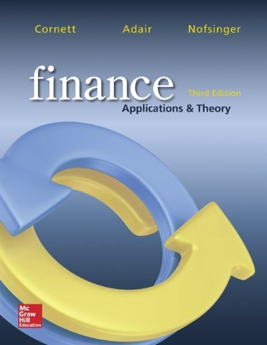 Finance: Applications and Theory (McGraw-Hill/Irwin Series in Finance, Insurance, and Real Est) by Marcia Cornett (2014-01-09)