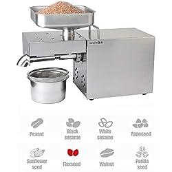 FayeLong Machine Extraction Huile Expeller Cacao Noix de Coco Machine Extracteur Presse à Huile Cacahuète Automatique Écrous Graines Huile Presse Presse Machine 1500W