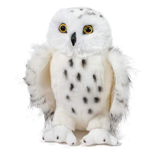 end SNOWY OWL Schnee-Eule Eule weiß Vogel Bubo scandiacus Kuscheltier Plüschtier Stofftier Plüsch Spielzeug ()