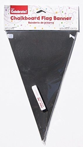 Decorative Chalkboard Paper Pennant Flag Banner Kit (9 ft. long) by Wal-mart Inc.