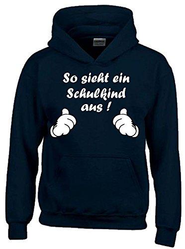 So sieht ein Schulkind aus ! Sweatshirt mit Kapuze HOODIE SCHWARZ, Gr.116cm
