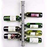 DollylaStore Decoración hogareña Artículos de ferretería y Accesorios Mental 12 Agujeros de Vino Botella de Agua Titular montado en la Pared Wine Rack Holder Stand Kitchen Bar