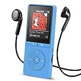 AGPTEK 8GB MP3 Player Fernbedienung am Kopfhörer, 1,8 Zoll Display Musik Player 70 Stunden Wiedergabe, A20, Blau