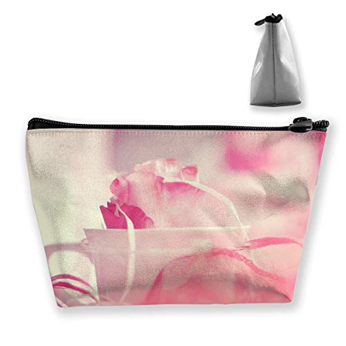Pink Roses Cup Mehrzweckstift Bleistift Taschen Zubehör Tasche Make-up Tragetasche Plain-kind-cup
