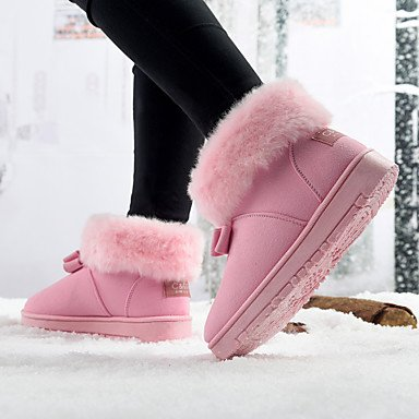 CH&TOU Da donna-Stivaletti-Casual-Comoda-Piatto-PU (Poliuretano)-Nero Marrone Rosa pink