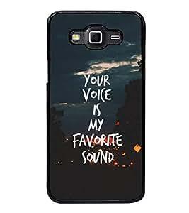 FUSON Your Voice Favorite Sound Designer Back Case Cover for Samsung Galaxy Grand Max G720