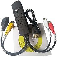 EasyCap DC60 USB 2.0 Audio Video Grabber Konverter Capture Karte mit UTV007 Chipsatz für Win 7 8 10