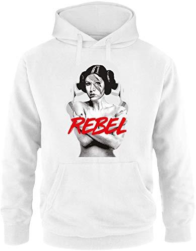 EZYshirt® Prinzessin Leia Rebel Herren Hoodie | Herren Kapuzenpullover | Herren Pullover