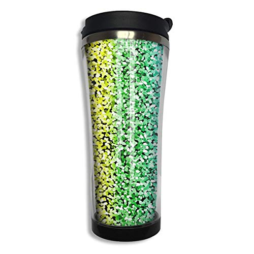 Stainless Steel Travel Mug Rainbow Sparkles Glitter Coffee Cup Tumbler with Lid 14.3 Oz