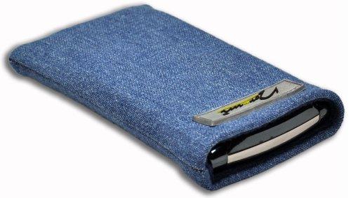 Norrun Handytasche / Handyhülle # Modell Jorit # ersetzt die Handy-Tasche von Hersteller / Modell Samsung SGH-S500i # maßgeschneidert # mit einseitig eingenähtem Strahlenschutz gegen Elektro-Smog # Mikrofasereinlage # Made in Germany