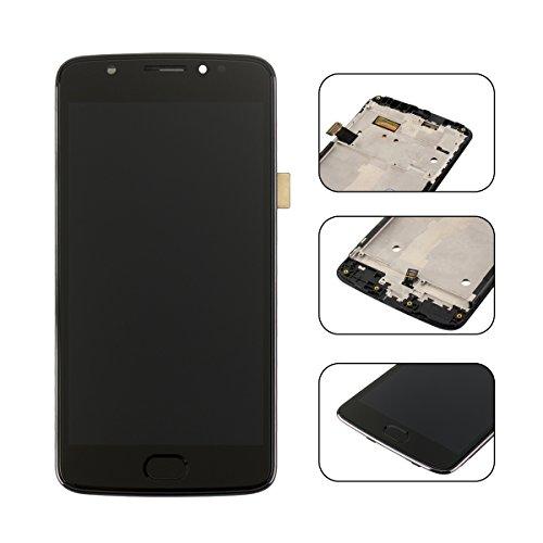 YHX-OU 5.0' di Riparazione e Sostituzione per Motorola Moto E4 XT1763 XT1762 XT1761 LCD Display con Touch Screen Digitizer + Utensili Inclusi (Nero+Telaio)