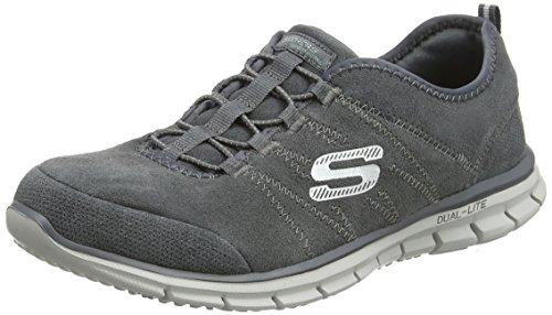 Skechers Glider, Baskets Basses Femme Gris - Grey (Gry)