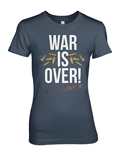 War Is Over If You Want It Activist Damen T-Shirt Blau