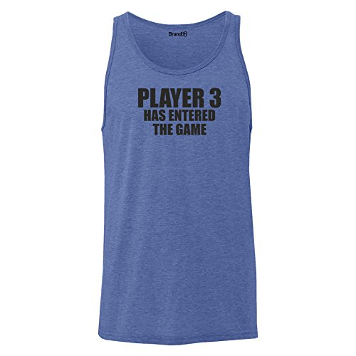 Brand88 - Player 3 Has Entered The Game, Unisex Jersey Weste Blau Meliert