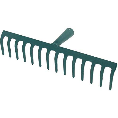 Cap Vert - Râteau soudé dents courbes / Sans manche - 14 dents