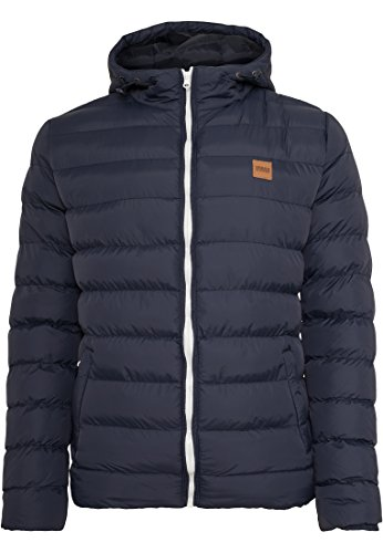 URBAN CLASSICS - Basic Bubble Jacket (navy-white-navy) Navy-White-Navy
