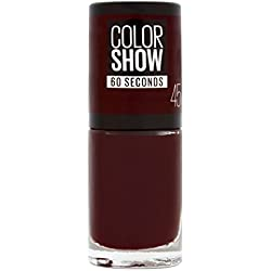 Maybelline New York Colorshow - Vernis a ongles -45 CHERRY ON THE CAKE - Rouge Foncé - 7 ml