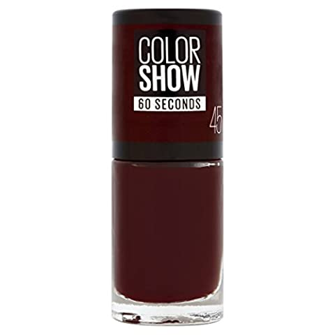 Gemey Maybelline Colorshow - Vernis a ongles -45 CHERRY ON THE CAKE - Rouge Foncé - 7 ml