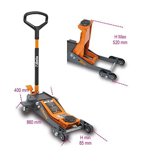 Beta Tools Beta 3030/2T Sollevatore Idraulico per Auto Ribassato da 2 Tonnellate...