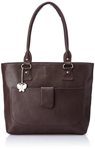 Butterflies Handbag (Brown) (BNS 0532 BN)