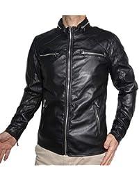 nuovo prodotto f9ea6 4cde5 chiodo ecopelle - Uomo: Abbigliamento - Amazon.it