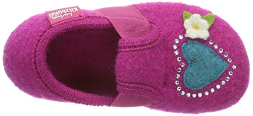 Living Kitzbühel T-modell Prinzessin & Herz, Chaussons courts, non doublées fille Rose - Pink (368 fuchsia)
