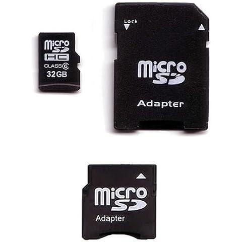 Komputerbay - Tarjeta microSDHC con adaptador microSD y miniSD (32 GB, clase 6)