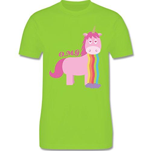 Statement Shirts - Kotzendes Einhorn - Herren Premium T-Shirt Hellgrün