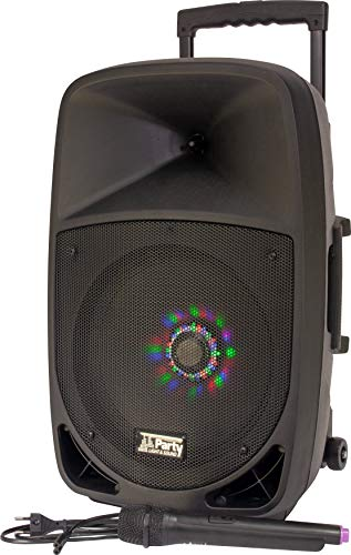 Party 12LED, Cargador con Sistema de Sonido con USB, 20 cm, 12...