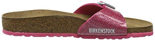 BIRKENSTOCK Damen Madrid Birko-Flor Pantoletten Pink (Magic Galaxy Bright Rose)
