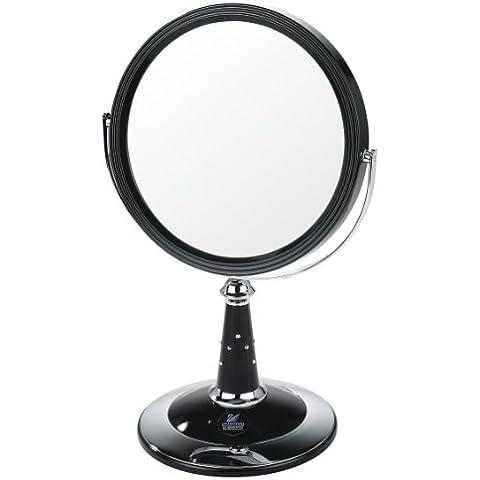 Danielle - en el espejo de pie con los elementos de acabado UV y Swarovski con incrustaciones de plata / cromo - real foto con magnificación 7x - 29 cm x 17,5 cm