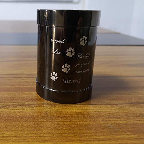 Winpavo Urne Urnen Anhänger Hochwertige Pet Memorial Kerzenhalter Urne, Edelstahl Paw Print Feuerbestattung Urnen Halten Haustiere, Hund, Katze Asche@C -