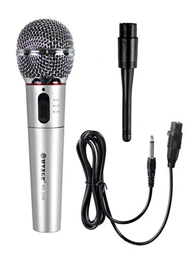 Vetrineinrete Microfono wireless o con filo con centralina per cantare da karaoke amplificatore vocale per concerto eventi canzoni conferenze G27
