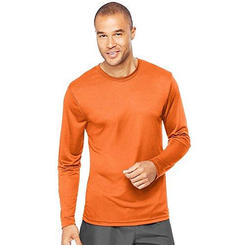 Hanes Cool Dri Performance Men's Long-Sleeve T-Shirt_Safety Orange_L (Wick Cool-dri)