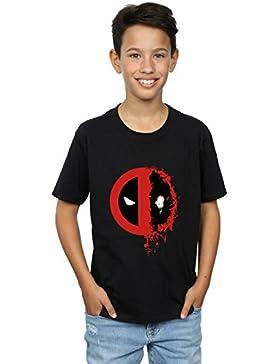 Marvel niños Deadpool Split Splat Logo Camiseta