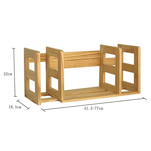DFHHG® Librería Librería Ajustable (14.5-77) * 18.5 * 22 Cm 2 Kg Madera Sólida durable