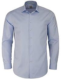 Jacques Britt Custom Fit Hemd Langarm New Kent Kragen Hellblau