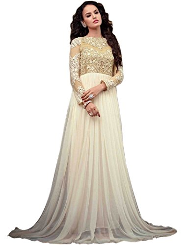 GownDivine-International-women-Off-White-Color-net-Anarkali-gown-with-Embroidery-work-Semi-Stitched-Suit