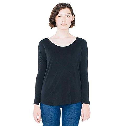 American Apparel - T-shirt - Moderne - Femme - noir - X-Small