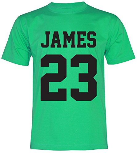 PALLAS Men's James Basketball Sport T-Shirt Green