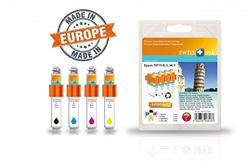 Preisvergleich Produktbild Multipack für Epson T0895/0715 mit Chip und Füllstandsanzeige für Epson Stylus D78, D120, DX4000, DX5000, DX6000, DX8400, S20, SX100, SX115, SX200, SX400, SX510W, SX600FW, BX300F, BX310, B40W - Wiederaufbereitet in Europa (Remanufactured