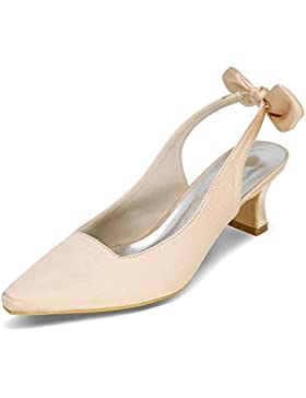 LEI&LI Scarpe fiocco raso tacco a spillo punta Toe pompe/tacchi matrimonio scarpe più colori donne disponibili
